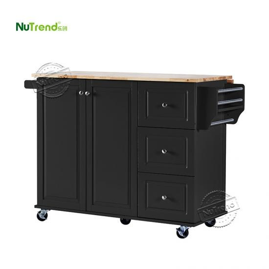 Wood Kitchen Trolley Island Furniture Manufacturer China