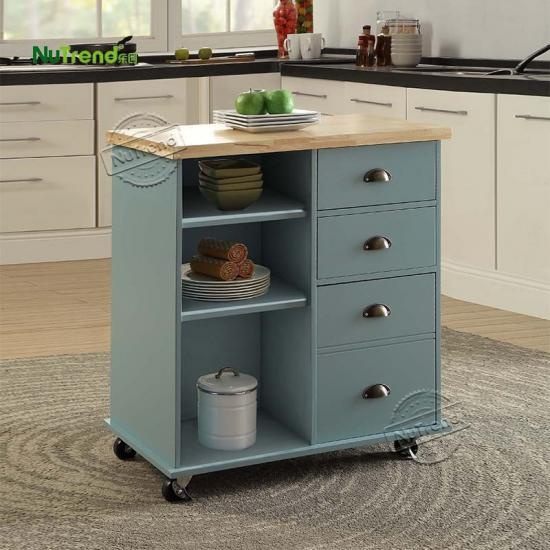 Wood Micorwave Kitchen Cart Island Furniture Supplier China