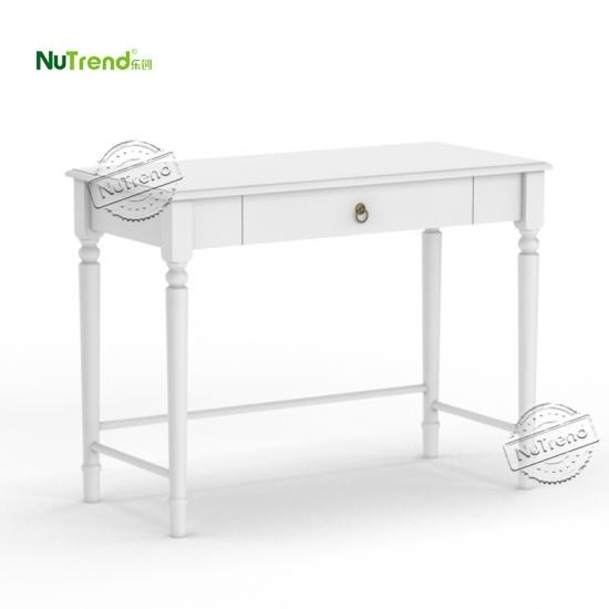 Custom White Wooden Farmhouse Study Table suppiler in China