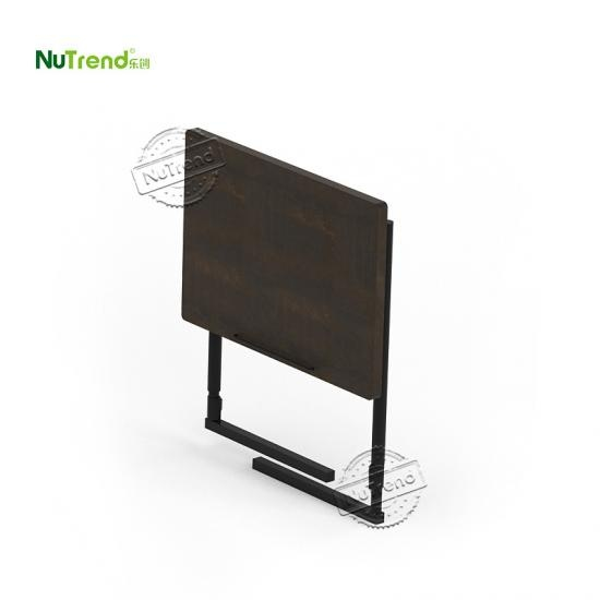 wholesale Dark Wood Expanding Top Adjustable Height C Side Table furniture factory