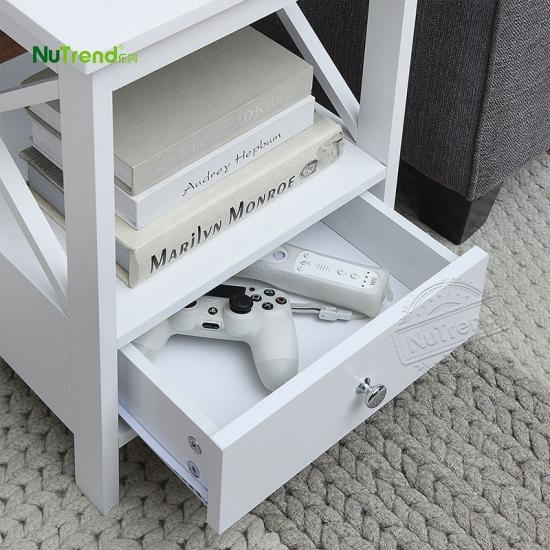 wholesale  Custom cheap farm X Frame white sofa end table for sale furniture factory