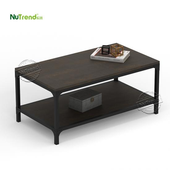 modern mdf wooden square farmhouse coffee table Furniture Supplier in China