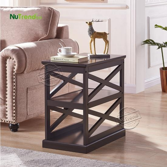 wholesale unique vintage mid century square wood side end table factory
