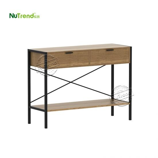 wholesalestylish home office wood and metal antique writing table desk with drawer Supplier China